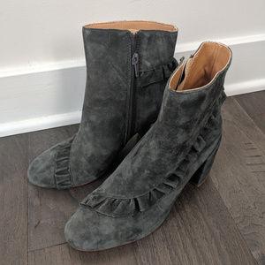 New Anthropologie Latigo 6 Kahlia Gray Suede boots